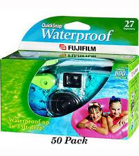 50 Fuji Quicksnap Waterproof Underwater Single Use Disposable Cameras 11/20