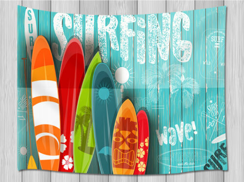 Color Sport Surfboard Tapestry Hippie Wall Hanging for Living Room Bedroom Dorm