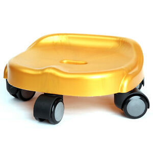 [Made In Korea] New Convenient Moving Floor Seat Chair With 10 Urethane Wheels