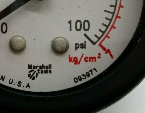 Marshall Town 093971 0-100psi Pressure Gauge