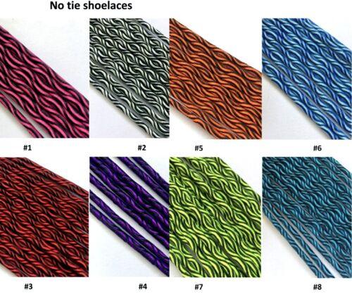 Elastische Schnürsenkel Zweifarbig Schnellverschluss Schuhsenkel no tie laces