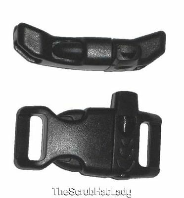 """25 Count 1/2"""" Curved Whistle Buckles for Emergency Survival Paracord Bracelets"""