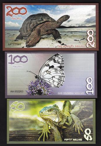 UNC,2019,New Design,POLYMER 5 10 20 50 100 200 $ Details about  /Aldabra Island 10 x 6 PCS SET