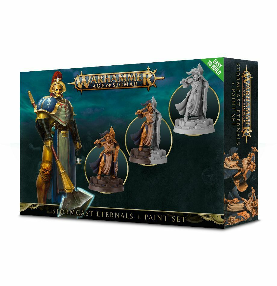 Warhammer Age of Sigmar Stormcast Eternals Paint Set GW coloring