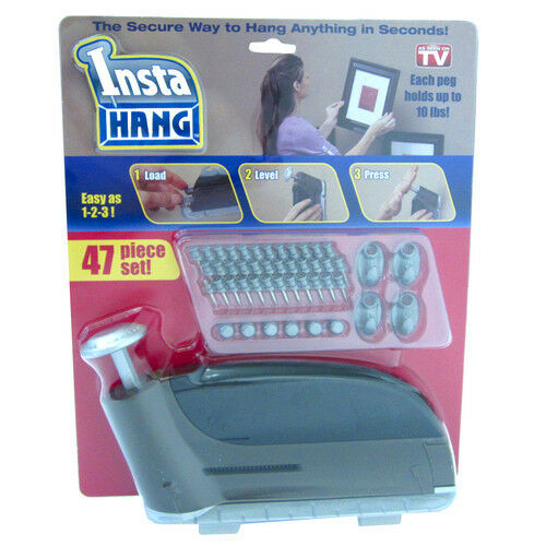 Insta Hang Picture Hanging Tool 47pc Set InstaHang Wall Hook Set As Seen On TV