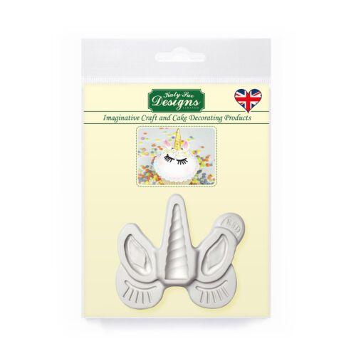 Nuevo Sue cuerno de unicornio orejas Katy /& Pestañas Molde De Silicona-Cupcakes