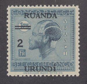 Ruanda-Urundi-Sc-36-MNH-1931-2fr-surcharge-on-1-75fr-dark-blue-Native-fresh