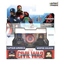 Marvel Minimates TRU Captain America Civil War Movie Cap & Winter Soldier