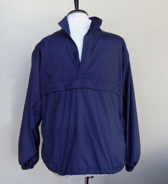 Ralph Lauren Polo Golf Windbreaker Jacket Vtg Mens S ½ Zip Pullover Anorak Blue