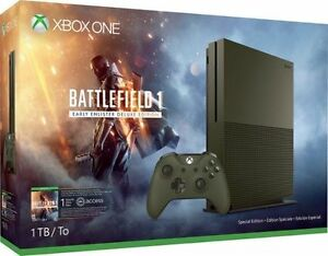 Microsoft-Xbox-One-S-Battlefield-1-Military-Green-Special-Edition-Bundle-1TB