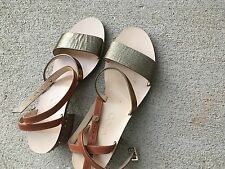 NEW Jimmy Choo Miko Honey Gold Caramel Strappy Leather Sandals 36 $725