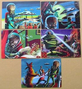 Topps-Mars-Attacks-Heritage-3-Dimension-Selection-5-x-Lenticular-Cards-2012