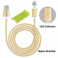 2 generation Braided Magnetic Lightning USB Charging Cable For iPhone 5 6 7 Plus