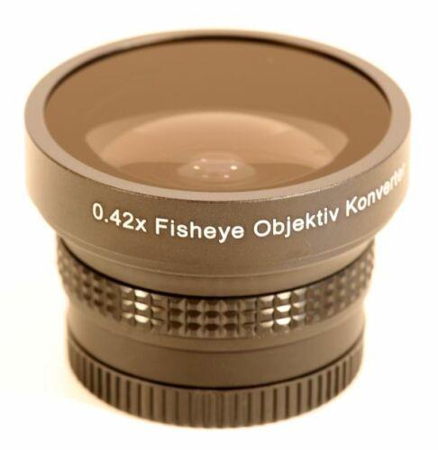 0.42x fisheye objetivamente dolo convertidor 37mm incl macro en negro nuevo