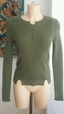 Edun Sage Cotton Blend Knitwear Size S Immaculate Condition RRP £325