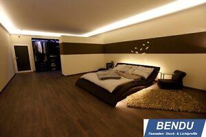Details zu 17,7m LED Lichtvouten Profile indirekte Beleuchtung Stuckleisten  Schlafzimmer