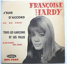 """FRANCOISE HARDY - J'suis d'accord - frz. 7""""-EP"""