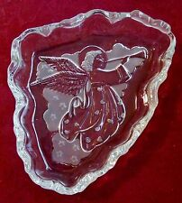 Vintage MIKASA ANGEL MUSIC FROSTED & CLEAR GLASS SWEET DISH SERVER  ORIGINAL BOX