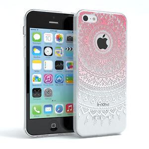 Huelle-fuer-Apple-iPhone-5C-Schutz-Cover-Handy-Case-Motiv-Pink-Weiss