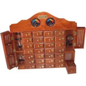 Mueble De Madera Artesanal Para Pájaros Canarios De 28 Cajones Para