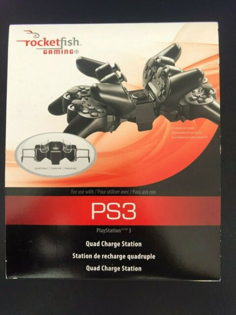 Rocketfish Quad Charge Station PlayStation 3 4 Port Controller Charger For 5E