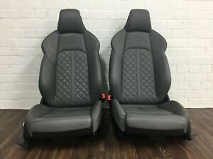 Magnificent Details About Audi S4 A4 B9 Grey Heated Supersport Leather Bucket Quilted Seats Front Rear Spiritservingveterans Wood Chair Design Ideas Spiritservingveteransorg