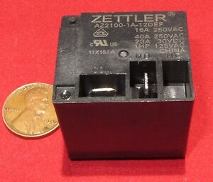 American-Zettler-12VDC-Relay-AZ2100-1A-12DEF-40A-250VAC-Trane-Fan-Blower-Motor-E