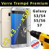 Film Protection écran Verre Trempé vitre anti casse Samsung Galaxy S6 S5 S4 S3