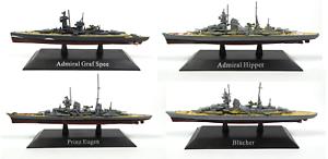 Lot de 4 Croiseurs Lourds Allemands Kriegsmarine WW2 1:1250 bateau WSL7