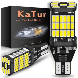 2-x-ampoule-LED-T15-W16W-4014-BLANC-XENON-CANBUS-ANTI-ERREUR-Veilleuse-VOITURE