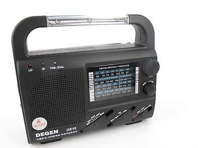 SOLAR BATTERY POWER RADIO SUPPLY TORCH EMERGENCY RADIO FM AM SW GARDENING
