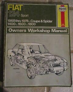 Fiat-124-Spider-Sport-1968-1978-Coupe-amp-Spider-Owners-Workshop-Manual-Haynes