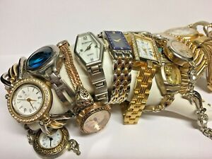 Lot Of 12 Women's Fashion Watches As Found
