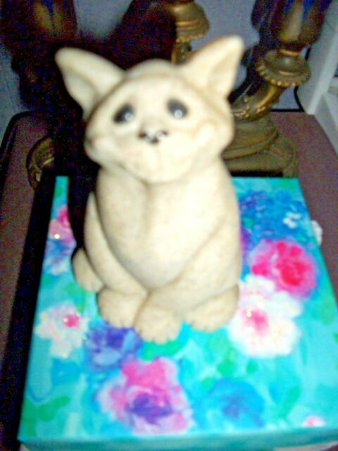 Second Nature Design Quarry Critters Chico the Cat Figurine in gift box