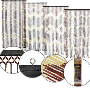 Bamboo-Wooden-Hanging-Beaded-Door-Curtain-Screen-Insect-Hanging-Summer-Blind-New