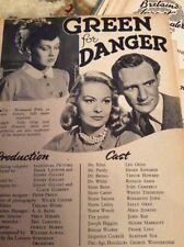 S1 Ephemera 1947 Film Article Freen For Danger Ronald Adam