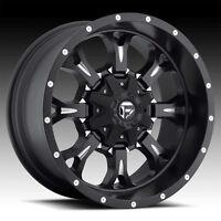 18 -12 D517 Fuel Krank Black Wheels Rims 5x5.5 5 Lug Dodge Ram 1500
