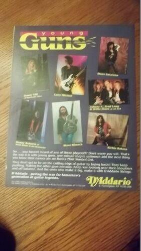 1989 PROMO AD Daddario Strings Richie Kotzen Danny Gill