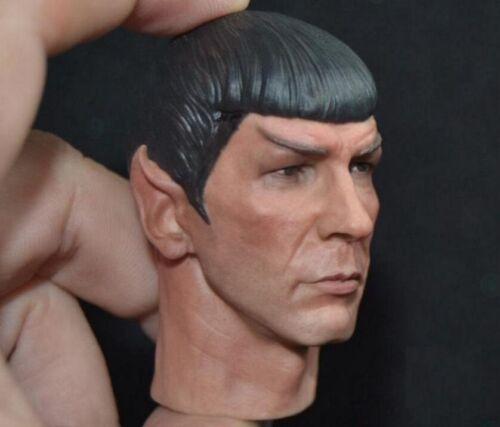 "1//6 scale Spock Head Sculpt Star Trek Leonard Nimoy fit hot toys 12/"" figure❶USA❶"