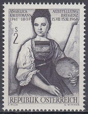 Österreich Ab 1945 Romantic Österreich Austria 1968 ** Mi.1269 Gemälde Paintings Kauffmann Excellent In Cushion Effect Briefmarken