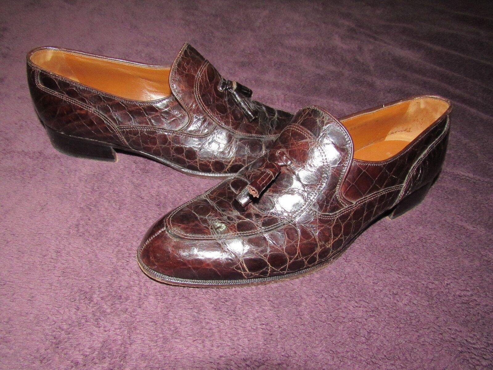 Uomo BEAUTIFUL BALLY BELMONDO GENUINE CAIMAM DRESS Scarpe SIZE 8.5M GREAT SHAPE