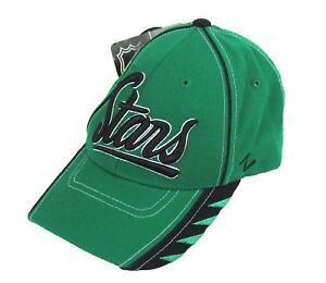 a8f5bcf4a Details about NHL Dallas Stars Zephyr Adjustable Hat Cap Green NWT One Size