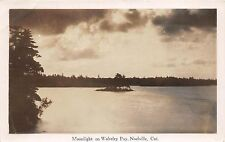 C32/ Noelville Canada Ontario Real Photo RPPC Postcard 1939 Wolseley Lake Moon