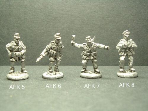Details about  /Métal WWII Allemand Afrika Korps Troupes 4 Variations 1//76 Échelle AFK5-6-7-8
