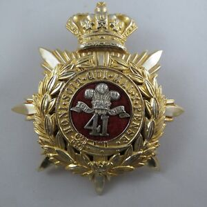 Military-Cloth-Helmet-Badge-41st-Regiment-of-Foot-The-Welsh-Regiment