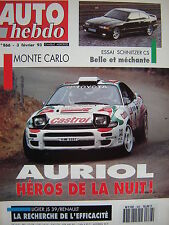 auto hebdo 1993 BMW SCHNITZER 3.0 CS / RALLYE MONTE CARLO / OPEL ASTRA GSI