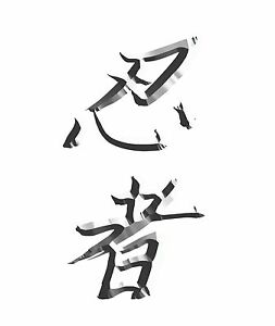 Japanese Kanji Meaning Ninja Decal Sticker Kit 2 stickers for Kawasaki Ninja G
