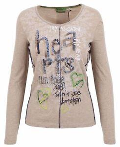 M Shirt Sweatshirt Damen Langarm Baumwolle Rundhals Women Public 38 Größe 100 0Sgxfxw
