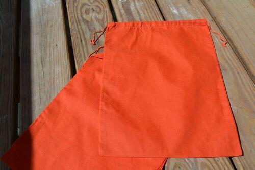"ORANGE COLOR 3/""x5/"" Cotton Double Drawstring Muslin Bags"