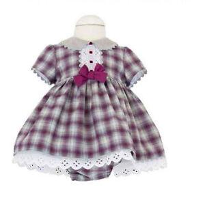 90389afdd95d Image is loading Baby-Girls-Spanish-Wine-Grey-Dress-Matching-Pants-